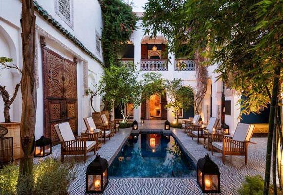 Constr yete un incre ble patio marroqu the luxonomist - Casas marroquies ...