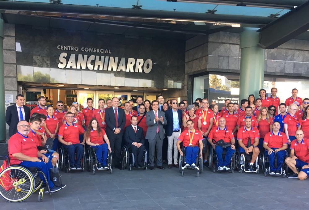 Equipo Paralímpico Español entrada ECI Sanchinarro