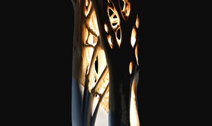 lámpara araña a
