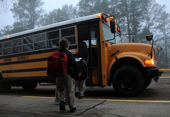 niño autobus escolar