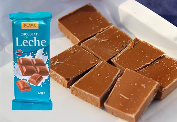 chocolate mercadona con leche