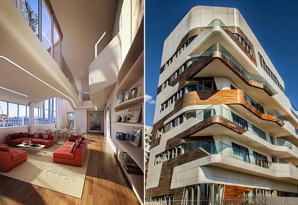 Líneas Curvas Para Un Apartamento Singular