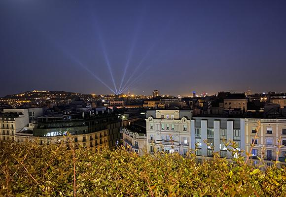 Vistas de la ciudad desde la terraza