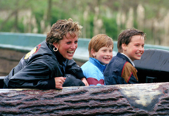 Meghan Diana, Harry y William