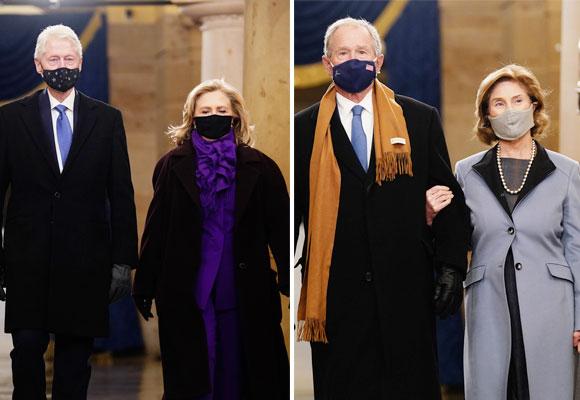 Laura Bush y Hillary Clinton