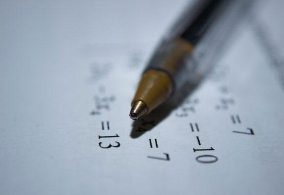 matemáticas bolígrafo