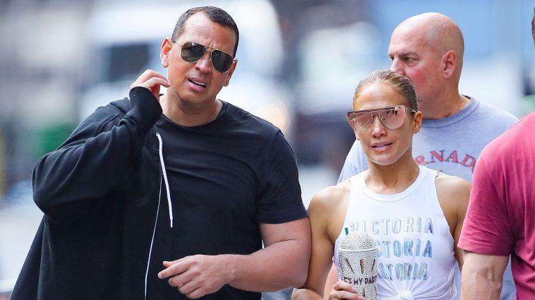 Álex Rodríguez y Jennifer Lopez