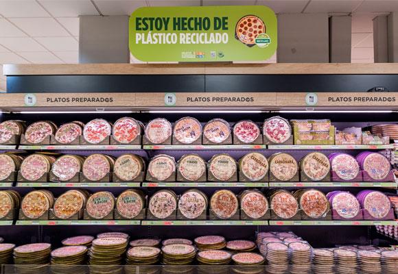 Pizzas plástico reciclado Mercadona