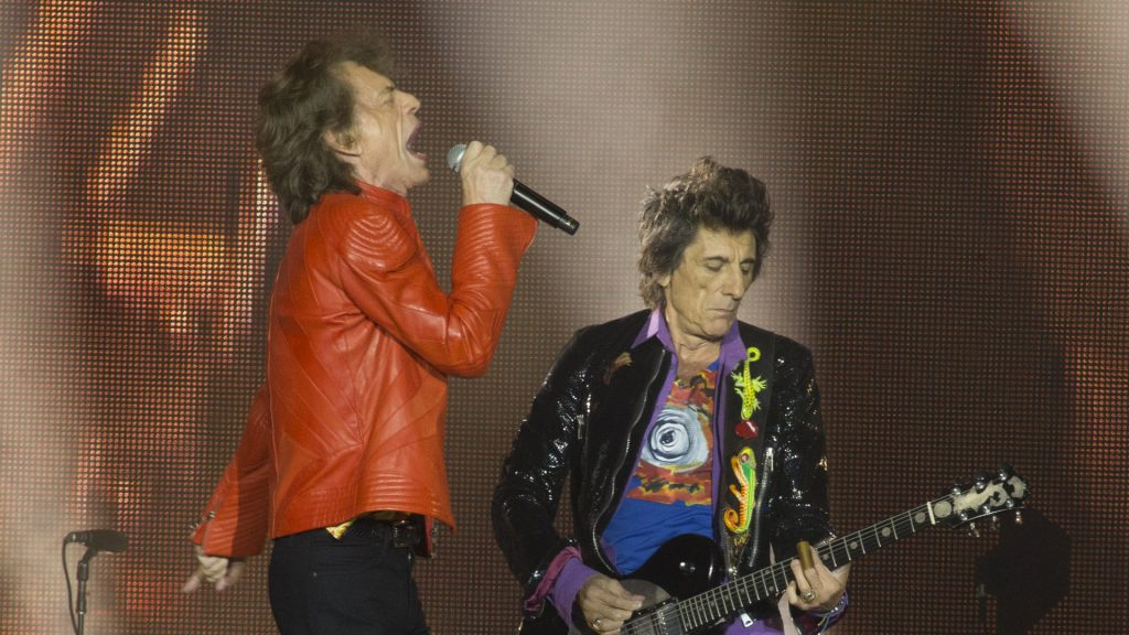 Ronnie Wood mick jagger stones