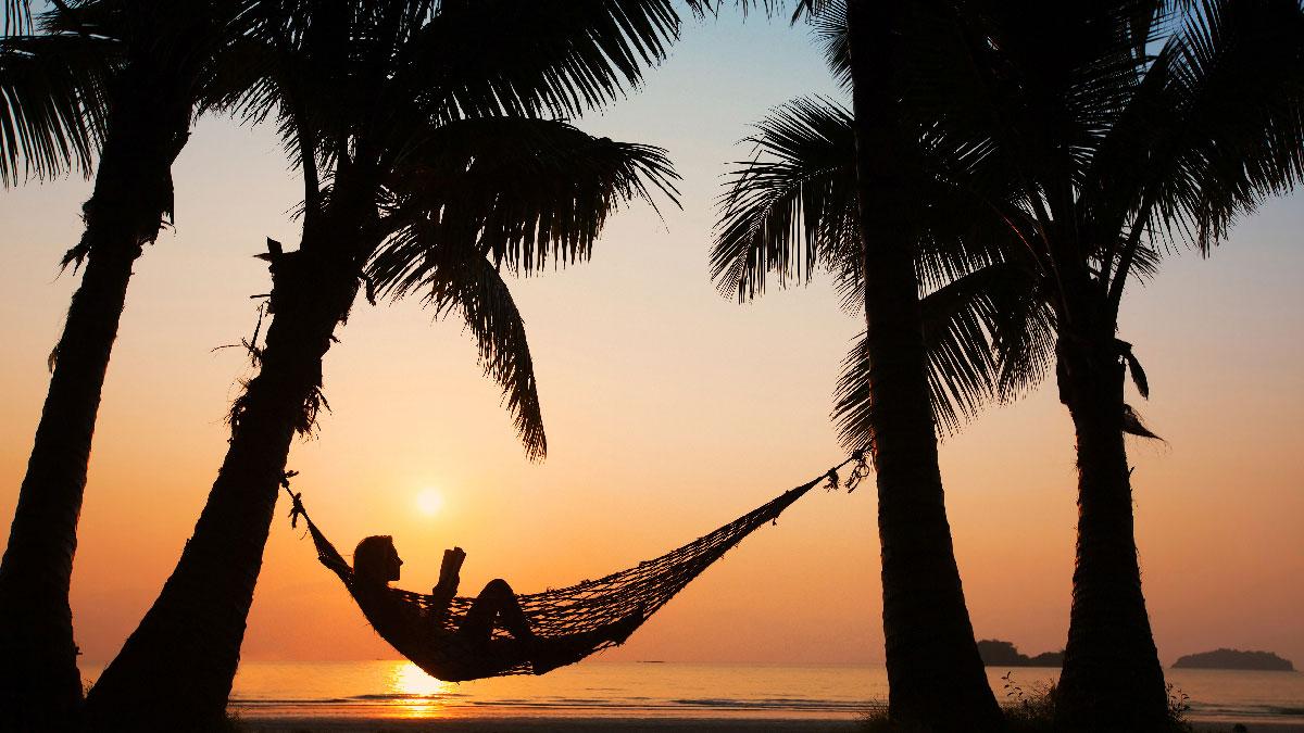 descansar playa hamaca