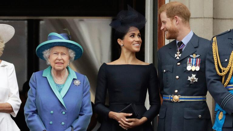 Harry, Meghan e Isabel II