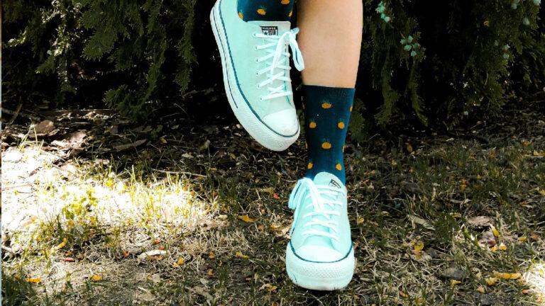 calcetines estampados zapatillas