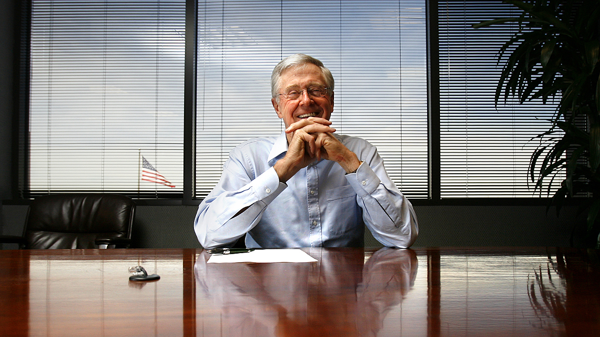 Charles G. Koch, 71, chairman of the board and chief executive officer of Koch Industries